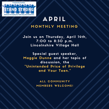 SSC April Monthly Meeting